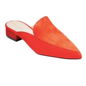 Cole Haan Piper suede fiery red mule